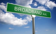 Broadband Avenue Street Sign