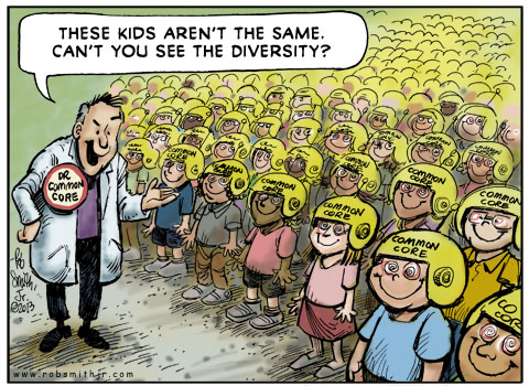 Common core positive cartoon
