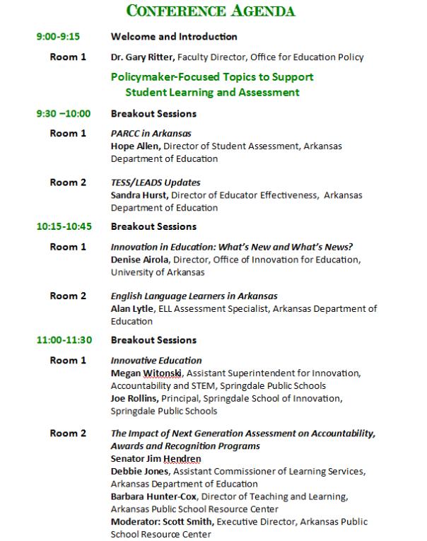 conference agenda 1